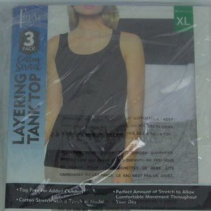 Felina Cotton Stretch Layering Tank Top 3 Pack XL